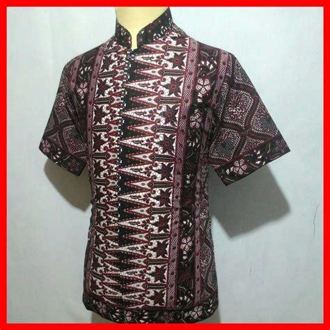 jual kemeja batik pria baju batik koko cowok bk10 di