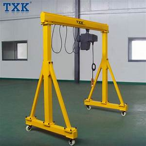 China 2 5 Ton Easy Assemble Mini Portable Manual Gantry