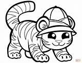 Tiger Coloring Pages Tigers Cap Printable Preschool Drawing Cartoon Caps Supercoloring sketch template