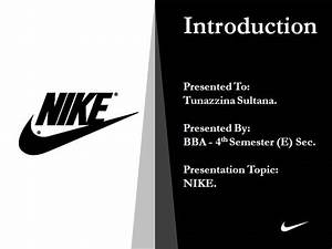 nike presentation authorstream With nike powerpoint template
