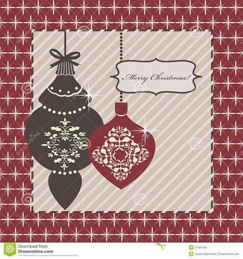 decorative christmas greeting card royalty free stock
