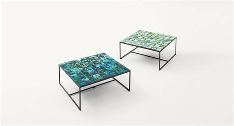 glass table top plastic spacers sciara paola lenti