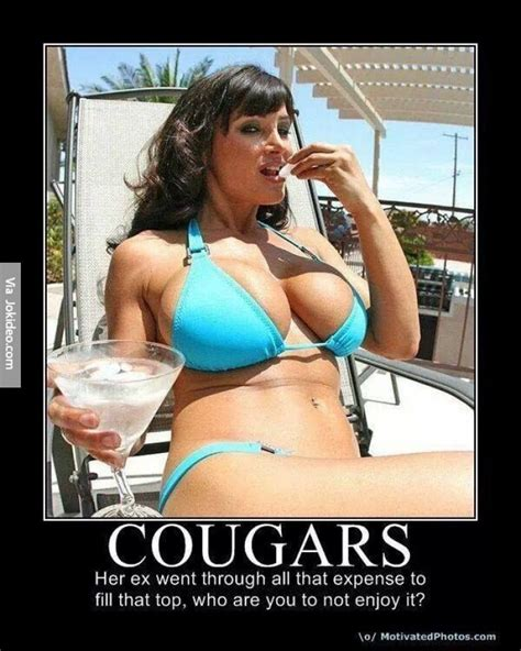 Funny Cougar Woman