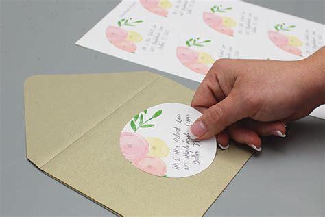 wedding address labels template garden bouquet wedding address labels print