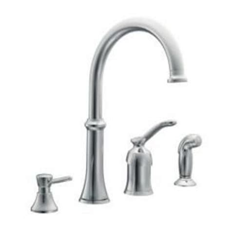 kitchen faucet brand reviews moen quinn chrome kitchen faucet with side spray 87845