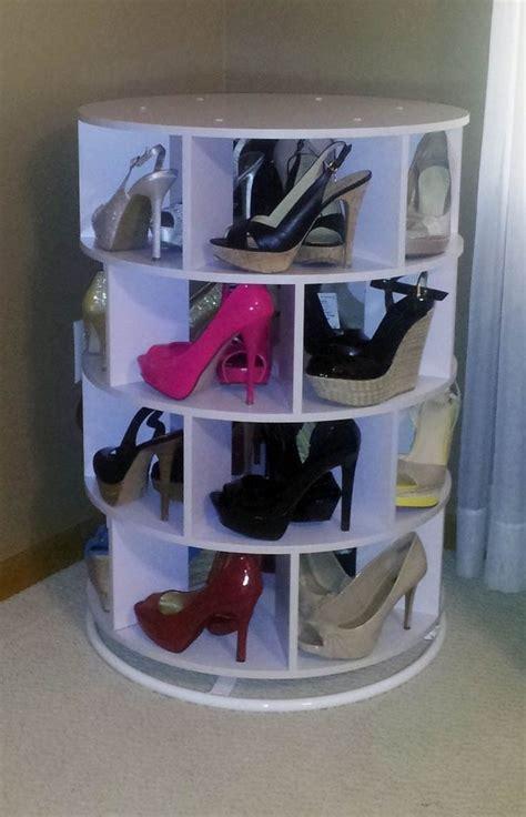 diy lazy susan shoe storage diy home decorations