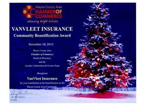 Backed by 36 years of experience vander vorst insurance agency. VanVleet Insurance Awarded Christmas Beautification Award - Van Vleet Insurance