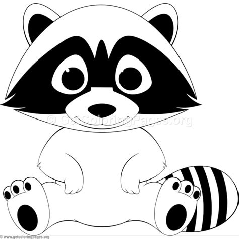funny baby raccoon coloring pages getcoloringpagesorg