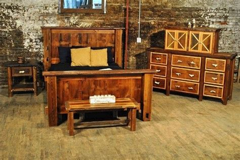 hand crafted rustic bedroom set reclaimed barnwood