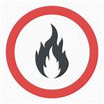 Flammable Sign Fire Safety Hazard Icon Warning