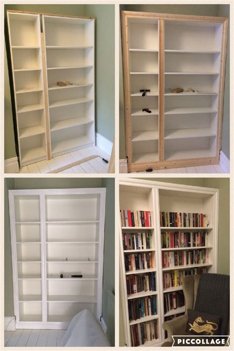 ikea hack billy bookcase modified    built