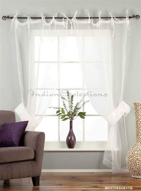 Draping Sheer Curtains - white sheer curtains ideas white tie top sheer tissue