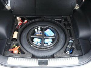 trunk  spare tire compartment storage kit