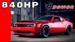 840HP Dodge Demon Test Hit Drag Racing