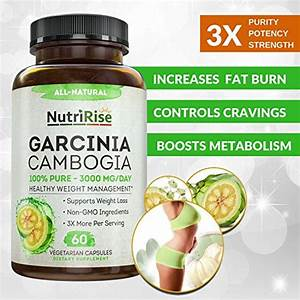 100  Pure Garcinia Cambogia Extract With Hca For Fast Fat Burn  Best Appetite Suppressant  U0026 Carb