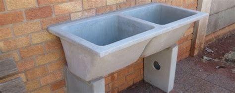 concrete trough sink concrete wash basin