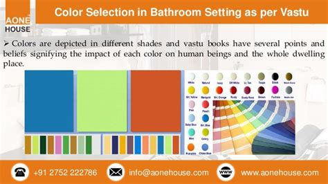 bathroom accessories and color selection as per vastu