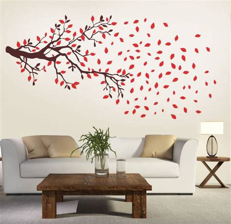 Wall Stickers For Living Room Flipkart by New Way Decals Wall Sticker Floral Botanical Wallpaper