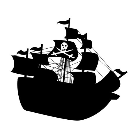 Boat Without Mask Clipart by Pirate Ship Silhouette Free Stock Photo Domain