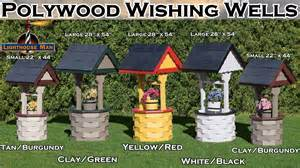 Outdoor Decorative Well Covers by Amish Wishing Wells The Lighthouse Man