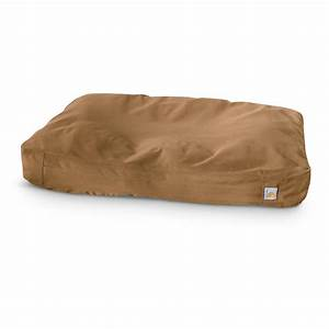 Carhartt brown cotton duck padded dog bed 609391 for Carhartt dog bed