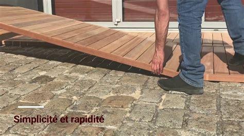 dalle en bois pour terrasse terrasse bois la pose de caillebotis tekabois