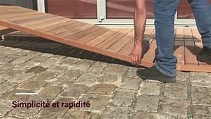 Terrasse En Caillebotis : terrasse bois la pose de caillebotis tekabois youtube ~ Premium-room.com Idées de Décoration