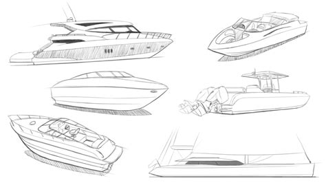 How To Draw A Boat Car by Speed Boat Sketch Www Pixshark Images Galleries