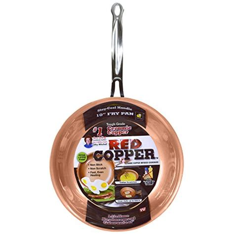 red copper   square dance pan  bulbhead tookcook