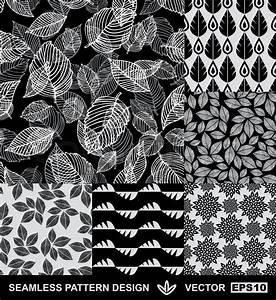 Stoffe Mit Muster : abstract backgrounds set monochrome vektor wallpapers schwarz und wei nahtlose muster ~ Frokenaadalensverden.com Haus und Dekorationen