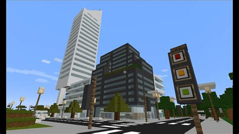 Minecraft city New York Citigroup building skyscraper