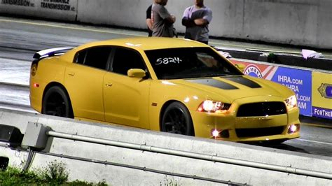 hp  liter dodge charger srt super bee  mile drag race video road test tv youtube