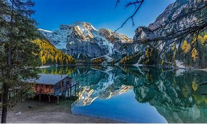Fall Mountains Lake Water Forest Alps Landscape