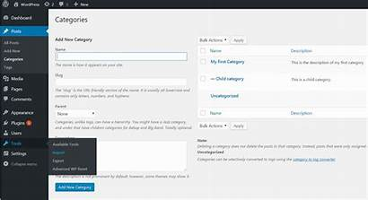 Wordpress Categories Convert Tags Learned