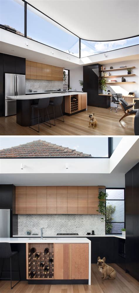 kitchen floor wood the roof of this new extension upwards to provide 1687