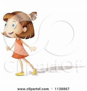 Cartoon Of A Girl With An Amazed Expression - Royalty Free ...