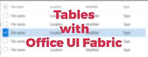Office Ui Fabric React by Office Ui Fabric Officeuifabric