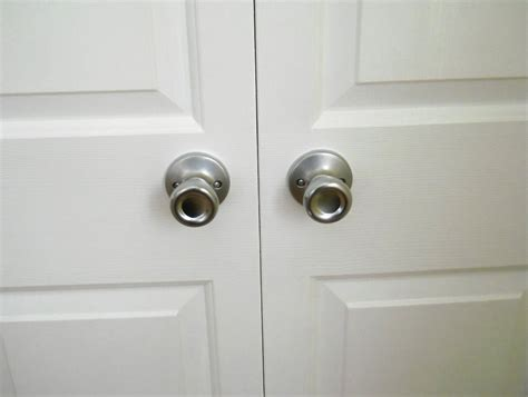 Stainless Bifold Closet Door Knobs — Closet Ideas