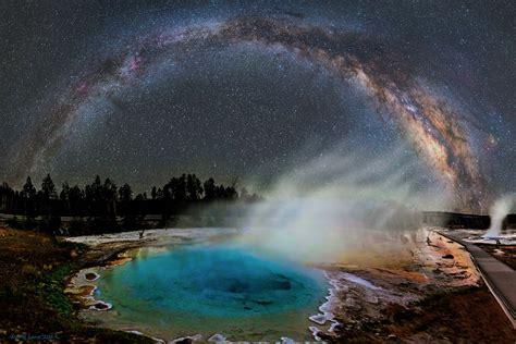 Damn Milky Way Galaxy Over Yellowstone National Park