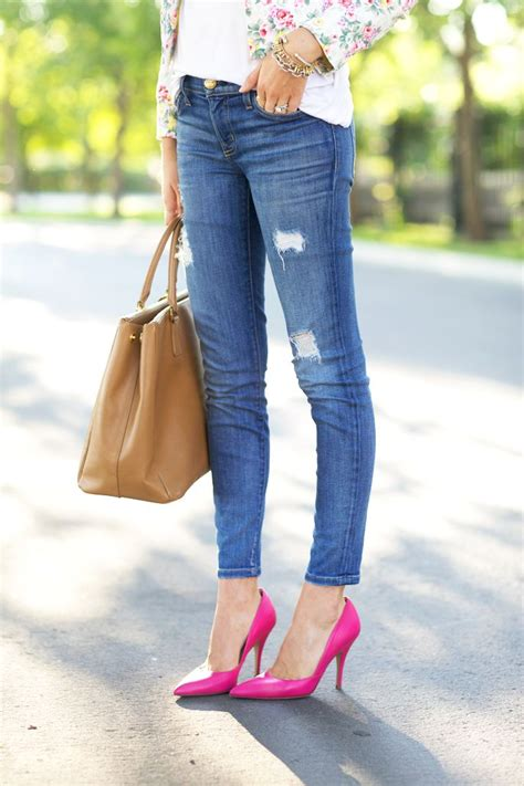 25+ best ideas about Pink pumps on Pinterest | Pink heels Pink shoes outfit and Bright shoes