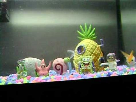 spongebob fish tank spongebob and house