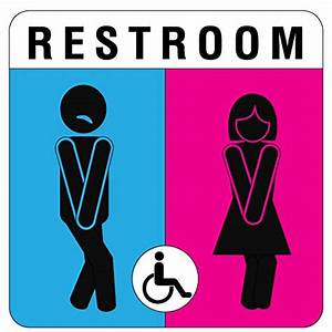 Unique unisex bathroom sign sexy and modern restroom for Cool bathroom signs