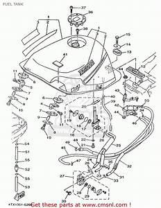 Yamaha Tdm850 1996 4tx1 Sweden 264tx-300e1 Fuel Tank