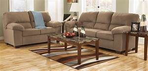 buy ashley furniture 1760538 1760535 set zadee mocha With ashley furniture living room photos
