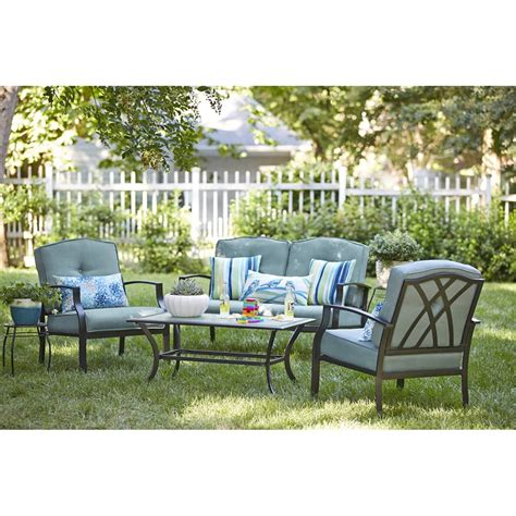 conversation sets patio furniture canada garden treasures cascade creek 4 conversation set