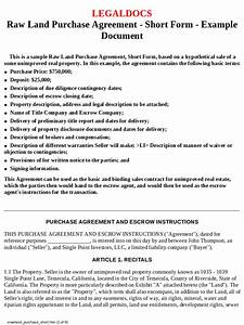 land purchase agreement form 4 free templates in pdf With land purchase contract template