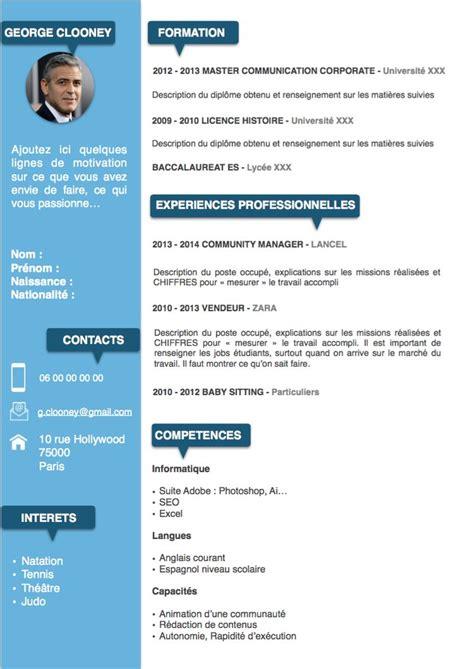 Présentation Cv Gratuit by Cv En Ligne Exemple Gratuit Exemple De Pr 233 Sentation Cv