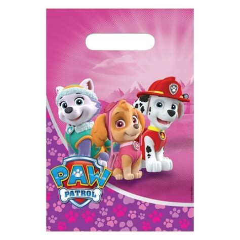 monster jam truck party supplies pink paw patrol loot bags x 8 kids themed party supplies