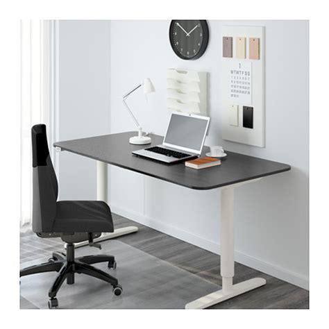 ikea black and white desk bekant desk sit stand black brown white ikea