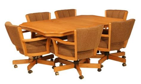 rolling dining room chairs dining room sets with caster